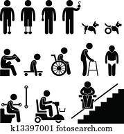 Amputee Handicap Disable People Man