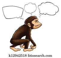 An ape thinking