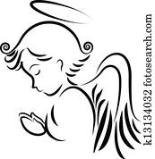 Angel praying logo