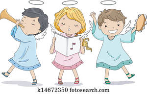 Angels Praising with Music