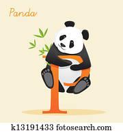 Animal alphabet with panda