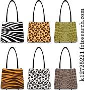 Animal Skin Handbags
