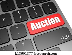 Auction with black keyboard