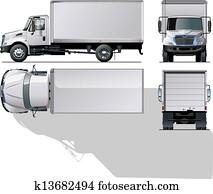 auslieferung, /, fracht lastwagen
