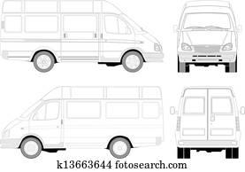 auslieferung, /, passagier, kleintransport