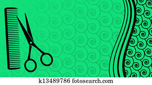 background for male hair salon