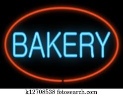 Bakery neon sign.