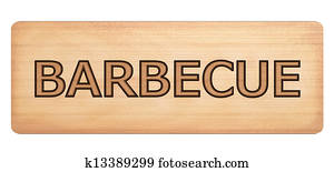 Barbecue wooden banner
