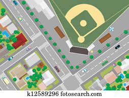 baseball field on the outskirts of