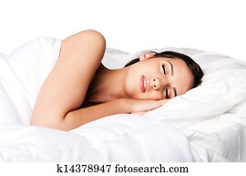 Beauty sleep and dreaming woman