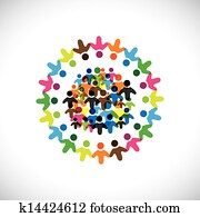 begriff, vektor, graphic-, soziales, vernetzung, von, buntes, leute, icons(signs)., dass, abbildung, vertritt, begriffe, m?gen, arbeiter, unions,, angestellter, diversity,, gemeinschaft, freundschaft, &, sharing,, kinder, playing,, usw