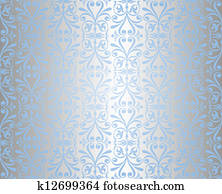 Clip Art Of A Royal Blue And Silver White Business Card Or