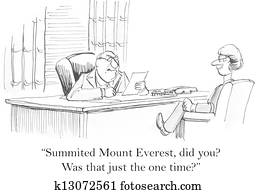 Boss is not impressed by Mount Everest resume