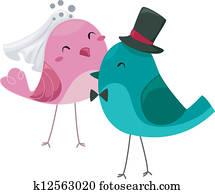 Bride and Groom Birds