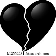 black heart clip art and illustration 51 568 black heart clipart rh fotosearch com black & white heart clipart black & white heart clipart