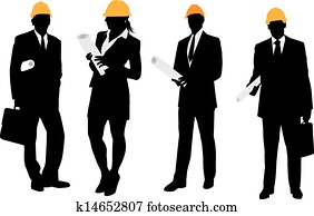 Business architects drawings. Vector