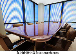 Business office conference room