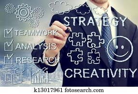 Businessman with concetps of creativity and strategy