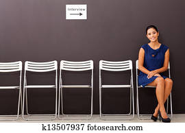 businesswoman waiting for job interview