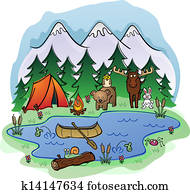 Camping In Summer with Animal Frien