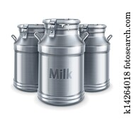can containers for milk isolated vector
