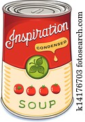 Can of condensed tomato soup Inspir