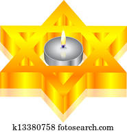 candle & star of David