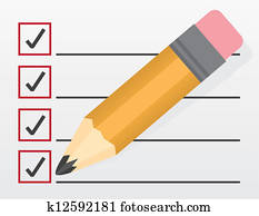 Checklist Large Pencil