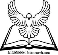 christliche, bibel, taube, begriff
