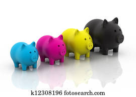 CMYK piggy bank