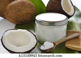 Coconuts and organic coconut oil