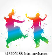 Colorful bhangra and gidda dancer