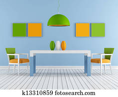 Colorful modern diningroom
