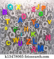 Colorfull letters abc preschool background