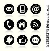 Contact, web, blog and social media