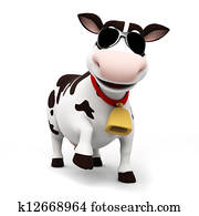 Cow character