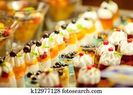 Cream and fruit dessert