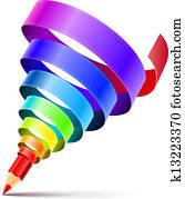 creative art pencil design concept