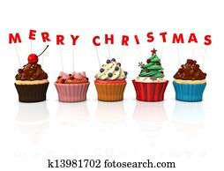 Cupcakes Merry Christmas