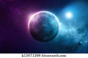 Deep space planet