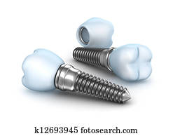 Dental implants , crown with pin
