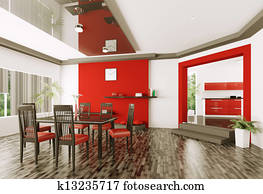 Dining room 3d render