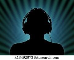 dj in headphones