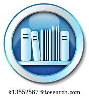 E-book library icon