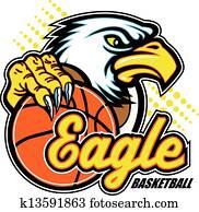 eagle with basketball