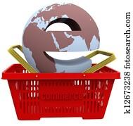 ecommerce world in Shopping Basket