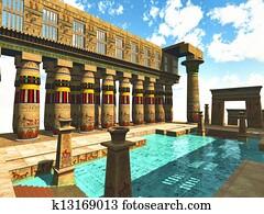 Egyptian swimming pool