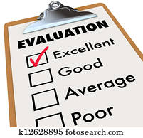 Evaluation Report Card Clipboard Assessment Grades