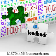 Feedback Puzzle Wall Words Customer Service Survey