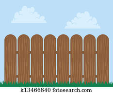 Fence Wooden Sky